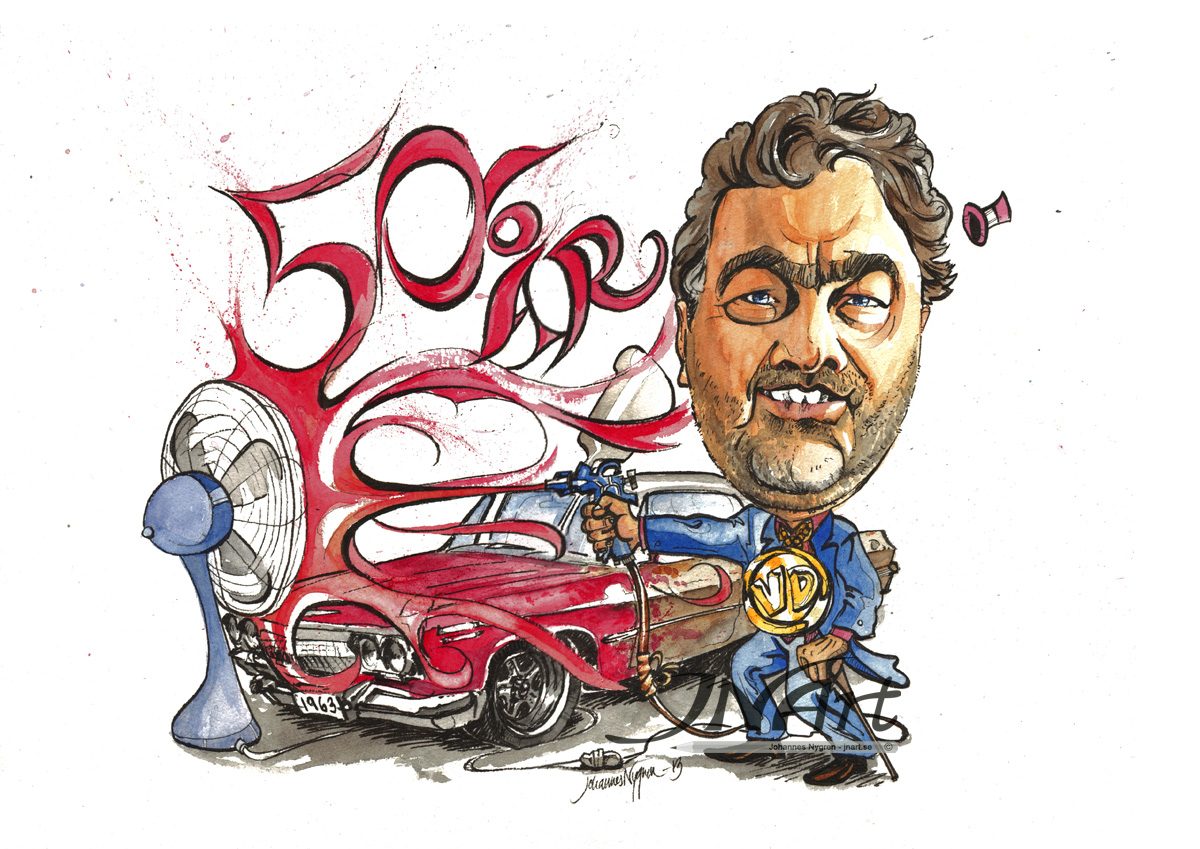 Caricature 50 years present