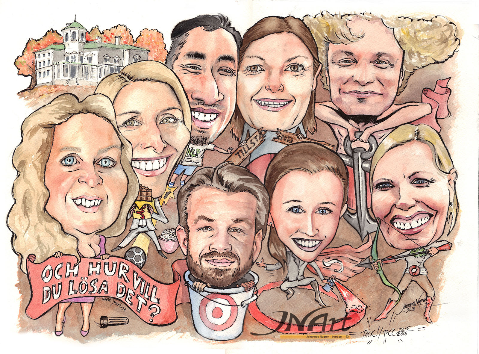 Caricature work team
