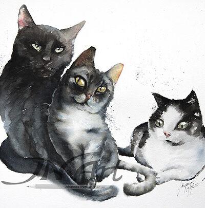 beställa djurporträtt akvarell