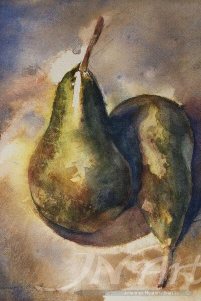 päron akvarell jnart